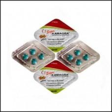 Super kamagra erectiepil Ajanta Pharma 1 strip 4 tabletten